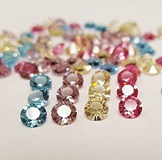 50 Pieces Swarovski Crystal Article 1088 Xirius Chaton SS24 Pastel Round 5mm. Rhinestones