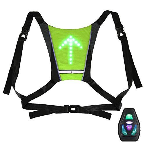 Lixada USB Reflektierende Weste mit LED Blinker Licht Fernbedienung für Radfahren Laufen Jogging
