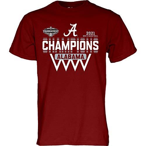 Blue 84 Men's Standard Basketball Conference Champions T-Shirt 2021, Alabama Crimson Tide Crimson, XX-Large