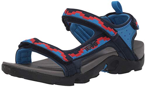 Teva Tanza Kids Sandale, Grau Blau Rot, 31 EU