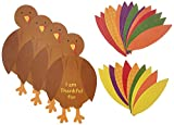 84 pieces, makes 12 turkeys Good quality paper Write your expression of thanks on the turkey's feathers! Ideal for Thanksgiving party and school activities Satisfaction guaranteed!