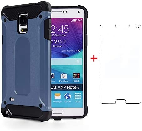 Phone Case for Samsung Galaxy Note 4 with Tempered Glass Screen Protector Cover and Cell Accessories product image