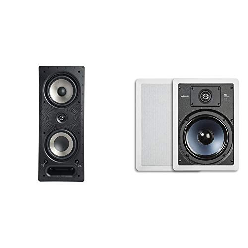 Lowest Prices! Polk Audio 265-RT 3-Way in-Wall Speaker - The Vanishing Series | Easily Fits in Ceili...
