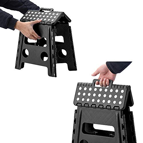 Acko Folding Step Stool - 13 inch Height Premium Heavy Duty Foldable Stool for Adults, Kitchen Garden Bathroom Stepping Stool (1 Pack)