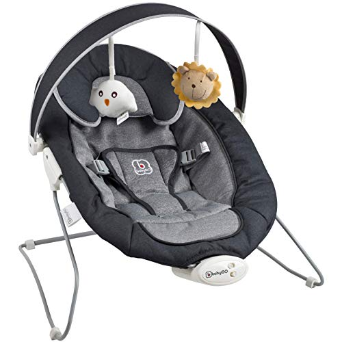 babyGo Cozy anthracite Babywippe Bouncer Wippe Babyschaukel