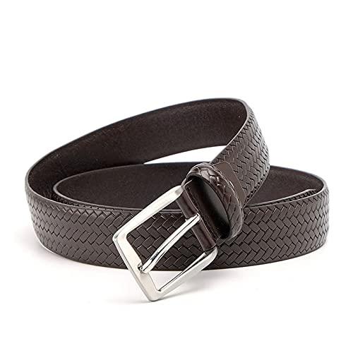Grasschen Correas de cuero para hombres Casual Cinturón Negro, Marron oscuro, 120cm de longitud