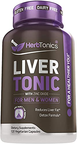 Liver Cleanse Detox & Repair Formula with Milk Thistle - Artichoke and 24 Herbs Liver Health Support Supplement: Silymarin, Dandelion and Chicory Root - 120 Vegan Capsules