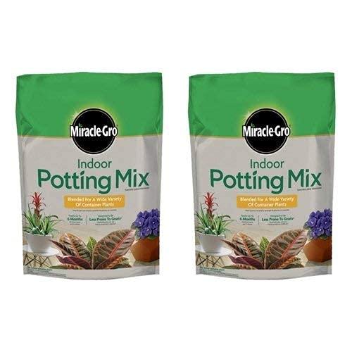 Miracle-Gro Indoor Potting Mix 72776430 6 Quart (2 Pack)