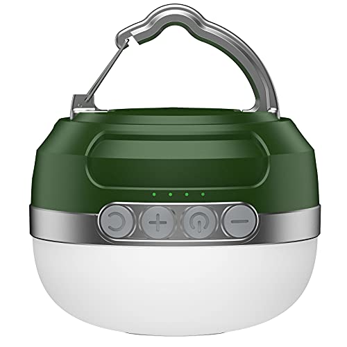 Camping Lampe mit RGB Farbwechsel, LED Camping Laterne mit 5200mAh USB Aufladbar, 6 Helligkeiten Leuchtmodi & Eingebauter Starker Magnet & Stufenlos Dimmbar Campinglampe für Wandern, Notfall