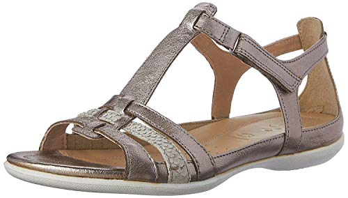 Ecco ECCO FLASH, Damen Knöchelriemchen Sandalen, Silber (WARM GREY METALLIC/MOON ROCK57462), 42 EU (8 Damen UK)