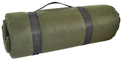 Wasserabweisende US Army Style Outdoor Fleece Decke Picknickdecke Schlafdecke Unterlage Oliv