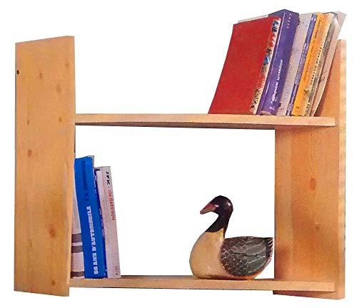 Abitti Estantería o librería para Colgar en Pared Color Miel, Hecha en melamina 74x50