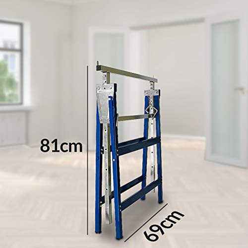 2x Gerüstbock Unterstellbock Klappbock Stützbock höhenverstellbar 81-130 cm Gerüst 400kg Tragkraft insgesamt - 3