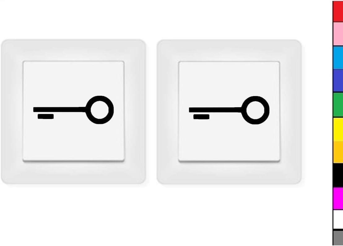 Generisch 2x Schlüssel Aufkleber Schalteraufkleber Symbol Schalter Sperren Türe 246 2 4 Schwarz Glanz 4 5 X 1 5 Cm Auto