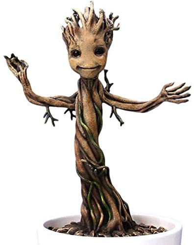Guardians of the Galaxy DRA-38138 Marvel Baby Groot Figur 18cm aus Action Hero Vignettes Reihe, Mehrfarbig