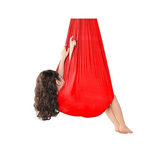 zyy Hamaca Oscilación Columpio Hamaca para Niños A Adultos Hamaca Suave con Necesidades Especiales para Niños Yoga Integración Sensorial Camping Al Aire Libre Rojo (Size : 100x280cm/39x110in)