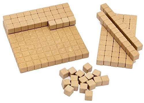 Spielundlern COMPUTANDI Schüler-Set Dienes Rechenstangen in Natur Rechenhilfe für Grundrechenarten und Dezimalsystem und bei Dyskalkulie …