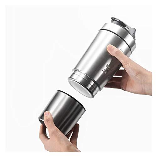 ZHJKK 26 oz Twey Twey Protein Powder Sport Sport Shaker Botella para Botellas de Agua Copa de Acero Inoxidable Mezclador DE VACUAJA DE VACUAJE DE Trabajo (Color : Silver)