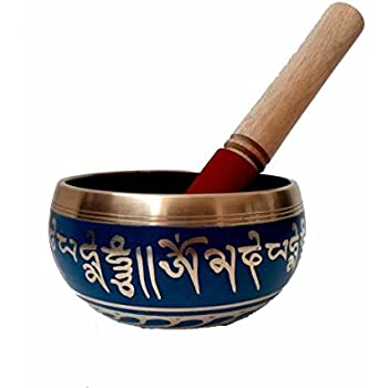 VMP Tibetan Singing Bowls for Meditation and Home Decorative Diameter 4.5 inches Black Color