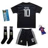 Summersport Argentinien Messi # 10 Fan Shirts Heim Trikot und Shorts mit Socken Kinder und Jugend Größe (140-7-8 Years, Heim)
