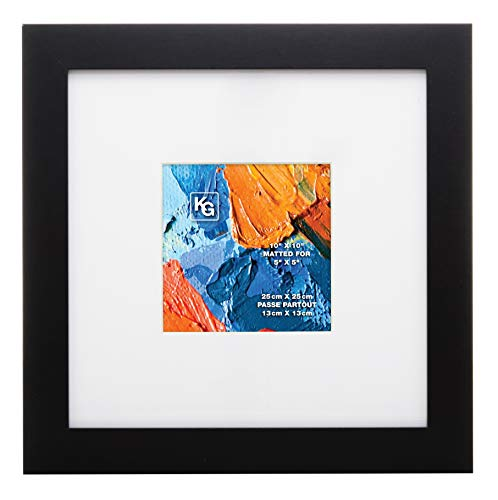"Kiera Grace Matted Classic Langford Picture Frame, 10"" x 10"", Black Dining Features Frames Home Kitchen Poster"