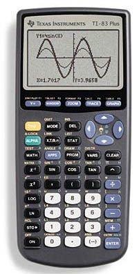 Texas Instruments grafische rekenmachine TI-83 Plus zonder kabel