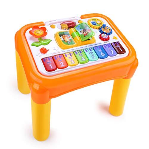 Jouets musicaux Table d'apprentissage de Jeu pour Enfants Multi-Fonction Table de Jeu pour l'éducation préscolaire Table de Musique pour Enfants 1-3 Ans Jouets d'éveil et 1er âge