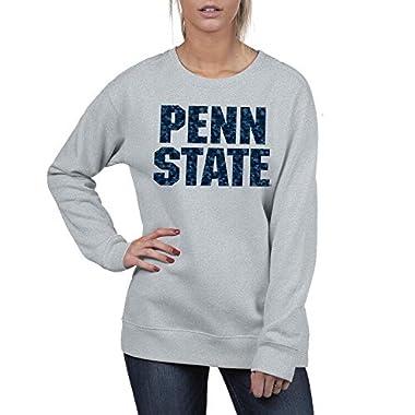 Top of the World Women's Essential Crewneck Fleece Flip Sequins Sweatshirt
