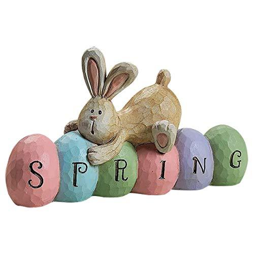 JSBVM Conejito de Pascua Gnomo Elfo Sueco Felpa Conejo Estatuilla Artesanía Primavera Decoración del hogar Adornos,B