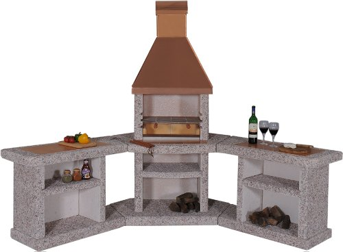 Wellfire Toskana Kupfer Grillkamin Außenküche