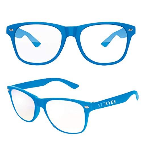Viteyes Blue Light Glasses, Blue Light Blocking Glasses for Adults & Kids (Blue, Ages 9 Thru Adult)