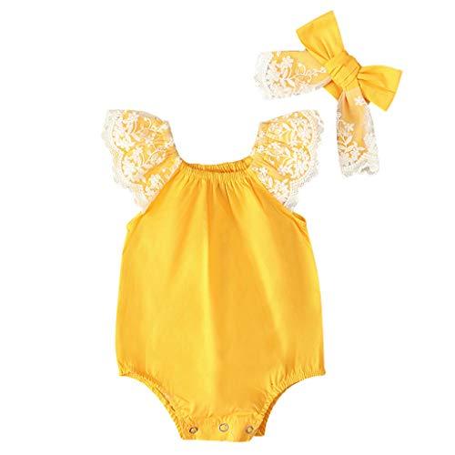 Julhold pasgeboren baby meisjes schattig eenvoudige haarband solide prinses kant gegolfd polyster Romper Jumpsuit 0-18 maanden