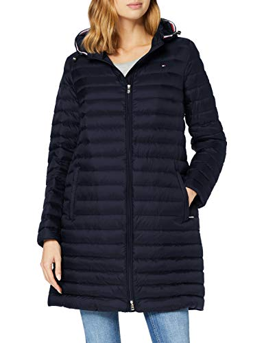 Tommy Hilfiger TH ESS LW Down Packable Coat Chaqueta, Desert Sky, M para Mujer