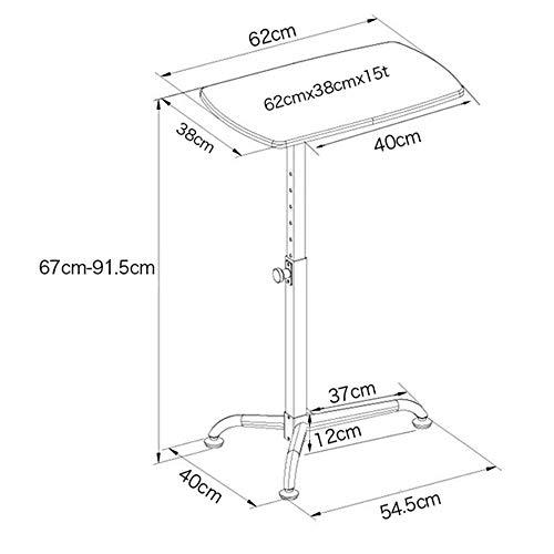 Good Koffietafel TV staande lamp telefoontafel sofa bijzettafel eiken tafel in hoogte verstelbaar Rednerpult/stahulp/ontvangsttafel met kantelbaar tafelblad, MK