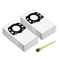 8pcs Yolando Sacchetti per Filtro per Karcher WD4 WD5 WD6 MV4 MV5 MV6 Aspirapolvere , Parti di Ricambio di Accessori Kit per Kärcher 2.863-006.0