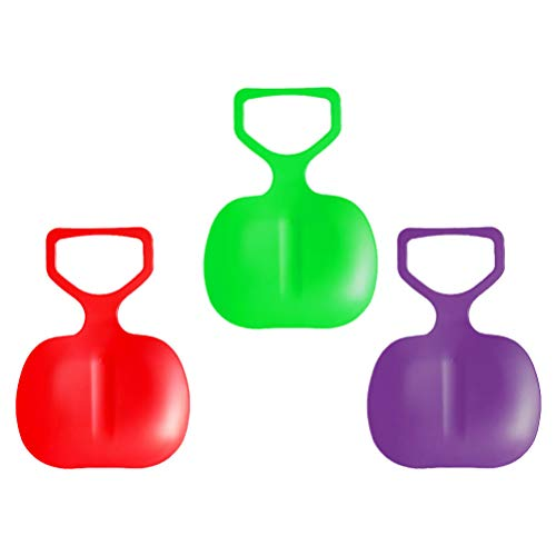 jojofuny Trineo de nieve de plástico para trineo de trineo de trineo para niños pequeños, 3 unidades