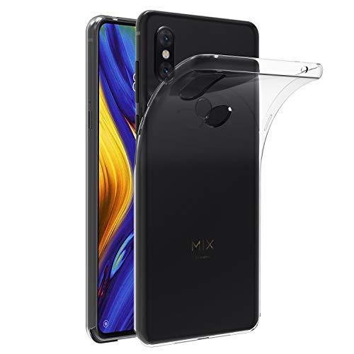 Tampa iVoler compatível com Xiaomi Mi Mix 3, capa de silicone macio TPU transparente fina