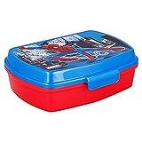   Spiderman  Sandwichera Para Niños Decorada - Fiambrera Infantil   Caja Para El Almuerzo Y Porta Merienda Para Colegio - Lonchera