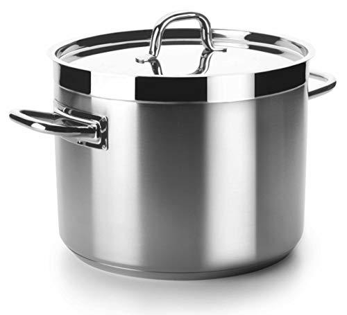 Lacor - 54135 - Olla Baja Con Tapa Chef Luxe 36 Cm Inox
