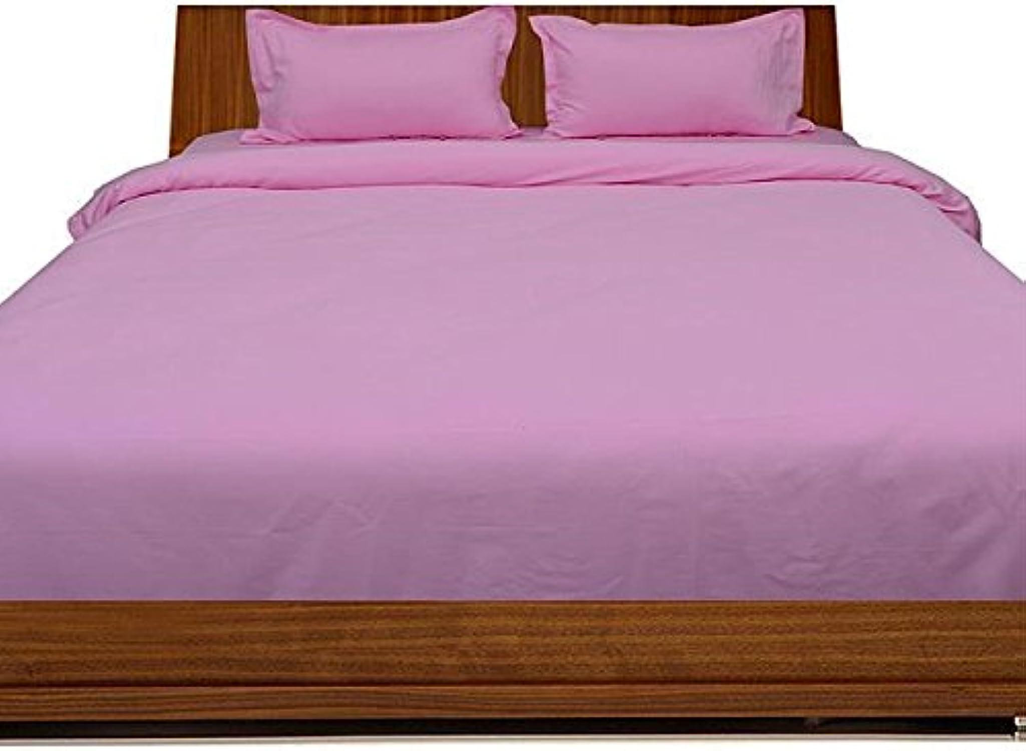 Linge de lit en coton égypcravaten 300 fils cm2 - 26 cm Pocket Sheet enfoncés avec oreiller Euro Double IKEA rose Solid 300TC 100%  coton