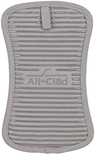 All-Clad Textiles Heavyweight 100-Percent Cotton Twill and Silicone Pot Holder, Titanium by All Clad Textiles