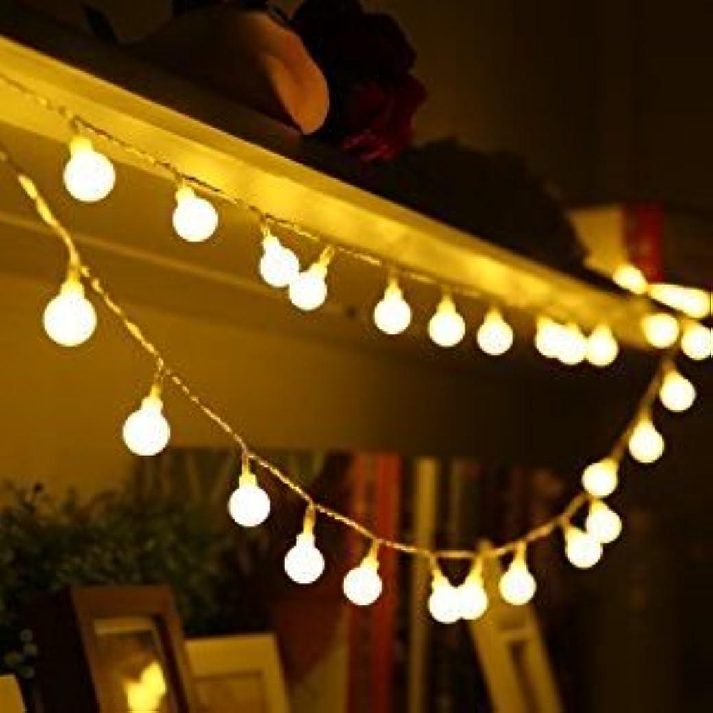 展開するマエストロセクションLED イルミネーションライト 電池式 5m50led ストリングライト led クリスマス led ライト 飾りライト フェアリーライト コンセント不要 携帯便利 アウトドア 室内 室外 結婚式 パーティー 庭 など適用 (5m50led ボール型)