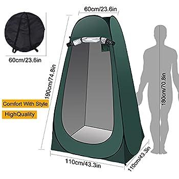 Tente de Douche Camping Pop Up Tente de Toilette Portable Cabine de Douche Extérieure Cabinet de Changement Abri de Plein Air Vestiaire pour Camping Randonnée Pêche Voyage
