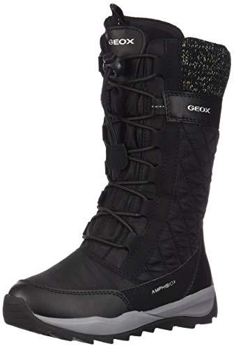 Geox Mädchen J Orizont B Girl ABX C Schneestiefel, Schwarz (Black C9999), 30 EU
