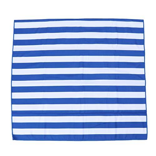 Wakauto Dauerhaft Mikrofaser Schnelltrocknendes Badetuch Schwimmend Tauchen Schwimmen Schal Wasserabsorbierendes Badetuch (himmelblaue Streifen)