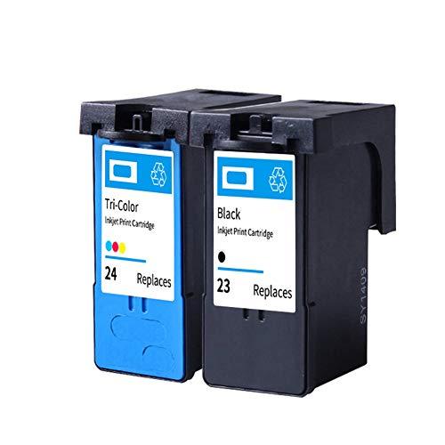SSBY Cartucho de Tinta remanufacturado de Repuesto para Lexmark # 23# 24, para Usar con X3530 X3550 X4530 X4550 X5070 X5370 Z1420 Z1410 1Black+1Tri-Colour