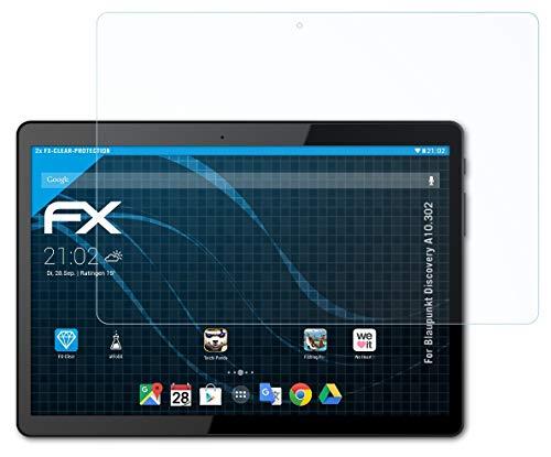 atFolix Schutzfolie kompatibel mit Blaupunkt Discovery A10.302 Folie, ultraklare FX Bildschirmschutzfolie (2X)