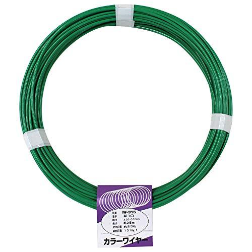 aiai カラーワイヤ緑IW-315 #10X25M