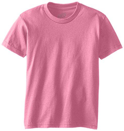 MJ Soffe Big Boys' Youth Pro Weight Short Sleeve Tee, Safety Pink, Medium