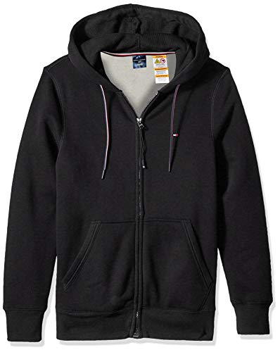 Tommy Hilfiger Herren Hoodie with Magnetic Zipper Sweatshirt, Anthrazitgrau Meliert, Large
